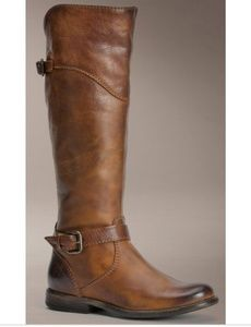 Frye Phillip Riding Pattern Zipper Tall Boots
